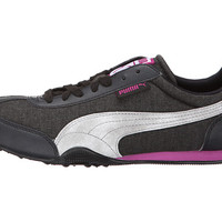 PUMA 76 Runner Woven Black/Vivid Viola - Zappos.com Free Shipping BOTH Ways