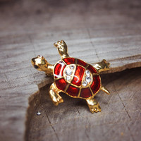 Marine Turtle Brooch #5397