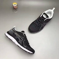 """""""ASICS"""" Fashion Casual Breathable Knit Fly Line Unisex Sneakers Couple Running Shoes"""