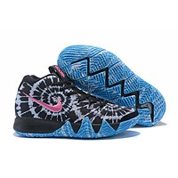 Nike Kyrie Irving 4 White/Black/Pink/Blue Sport Shoes