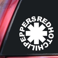 Red Hot Chili Peppers Vinyl Decal Sticker - White - 6 inch size by ShadowMajik