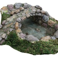 MHG Fairy Garden Stone Bridge and Pond
