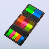 3 PCS Cute Colorful Fluorescent Memo Pad Post it Sticky Bookmark Writing Pads Cute Stationery Sticker Office School Supplies