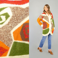 80's Abstract MOHAIR Cardigan