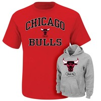 Majestic Chicago Bulls Hoodie & Tee Set - Boys 8-20, Size: