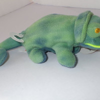 Iggy the Iguana - from 1993 Teenie Beanie Babies McDonald vintage toy collection