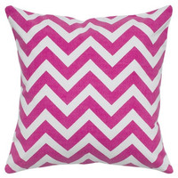 18x18 Hot Pink Chevron Zig Zag Decorative Pillow Cover - Same Fabric Both Sides