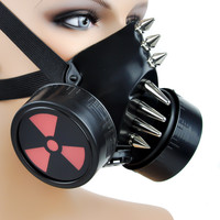 Industrial Radiation Sign Spike Gas Mask Dual Respirator