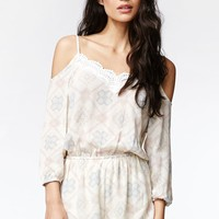 Kendall & Kylie Cold Shoulder Romper - Womens Dress - White