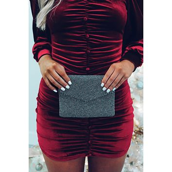 Something Special Clutch: Black/Silver