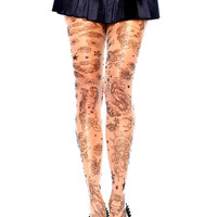 Nautical Tattoo Tights