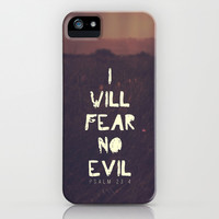 I will fear no evil - Ps 23:4  iPhone & iPod Case by Pocket Fuel