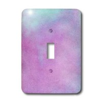 3dRose lsp_212483_1 Purple And Blue Watercolor - Single Toggle Switch