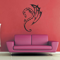 Curved Dragon Wall Decal