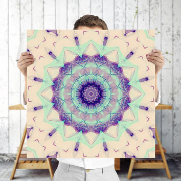 Mandala Angelic 12x12 Art Print - Sacred Geometry - Buddhist Wall Art, Digital Art | Good Vibes, Spiritual Art by Mila Tovar