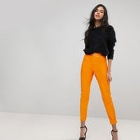 ASOS RIVINGTON High Waisted Jeggings in Orange Vinyl at asos.com