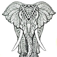 Tribal Elephant Boho Bohemian Bedspread Beach Blanket Wall Tapestry