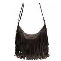 Women Leather Purse With Fringe Tassel