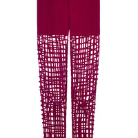 RED EMBELLISHED NET TIGHTS | @ManishArora | VFILES SHOP