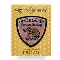 Fierce Lady Patch Birthday Card