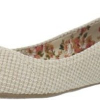 Chinese Laundry Women's All Done Woven Ballet Flat,Natural,10 M US