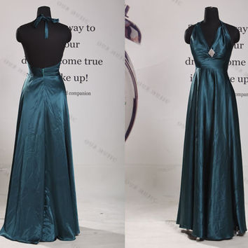 V-Neck Stain Long Prom Dress//long evening dress//long bridesmaid dress//bridesmaid dress//Party Dresses/Evening Dresses