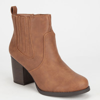 Soda Indeed Western Womens Boots Tan  In Sizes