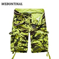 WEBONTINAL High Quality 2017 New Arrival Fashion Cargo Shorts Men Adolescent's Male Camouflage Brand-Clothing Short Pants Mens