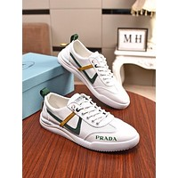 prada men fashion boots fashionable casual leather breathable sneakers running shoes 22