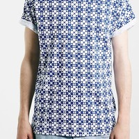 Men's Topman Geo Print T-Shirt,
