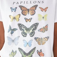 Butterfly Crew-Neck Tee | Urban Outfitters