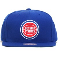 Detroit Pistons Ball Logo Wool Solid Snapback Blue
