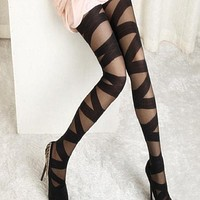 Women Ripped Cut-out Bandage Ultra-thin Tights-  FREE SHIPPING