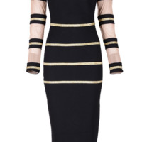 Hawn Black Gold Dress