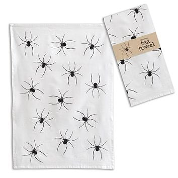 Spider Tea Towel - Box of 4
