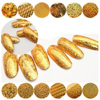 3*100cm/Roll Starry Sky Nail Foils Gold Nail Transfer Decal Stickers DIY Manicure Nail Decoration
