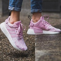 Adidas NMD R2 Wonder Pink/Wonder Pink/Core Black Boost Sport Running Shoes Classic Casual Shoes Sneakers