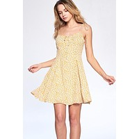 Camila Spaghetti Strap Dress (Yellow)