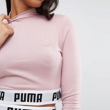 Puma Exclusive To ASOS Cropped High Neck Sweat Co Ord at asos.com