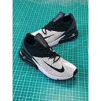 Nike Air Max 270 Flyknit White Black Sport Running Shoes