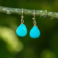 Today's The Day Earrings-Turquoise