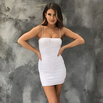 Sweet Thing Bodycon Dress in White