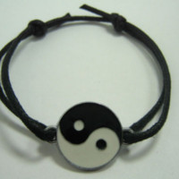 Bracelet Anklet Adjustable Feng Shui Ying Yin Yang Surf Wax Cord Chinese