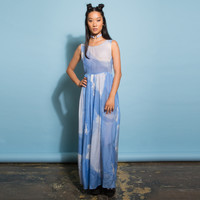 Shady Blue Maxi Dress