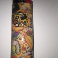 Hippie Van Abstract custom BIC lighter