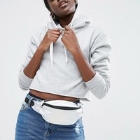 ASOS LIFESTYLE Textured Holographic Fanny Pack at asos.com
