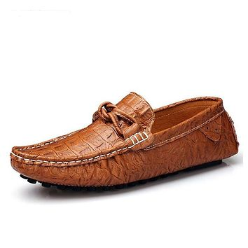 Male Footwear Moccasins Luxury Genuine Leather Flats Men Shoes Casual Fashion Slip On Driving