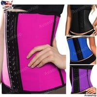 Best Underbust Waist Trainer Cincher Corset Girdle Workout Belt Shaper