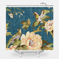 Vintage Fabric Shower Curtain