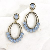 Low Hanging Fruit Earrings in Aqua